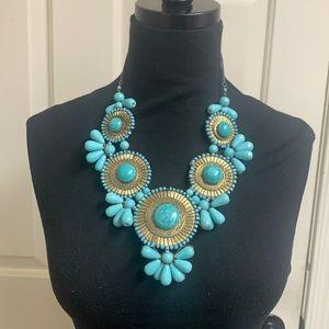 Unique teal necklace